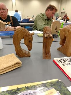 Horse carving class