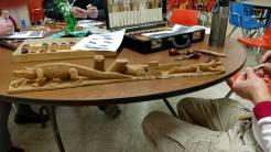 Gator scene (cottonwood bark)