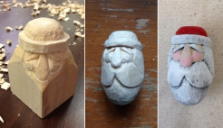 Santa carving sequence