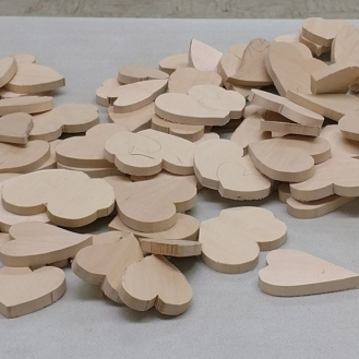 Heart blanks, ready to carve. All shapes, sizes, colors, and designs are welcome.